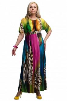 """Платье """"Олси"""" 1605035/1 ОЛСИ (Разноцветный/леопард 1)"""
