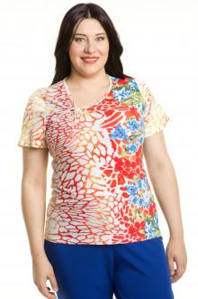 Блузка 347 Luxury Plus (Цветы)