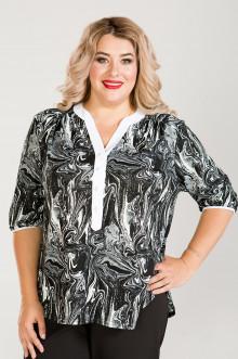 Блузка 754 Luxury Plus (Черно-белый)