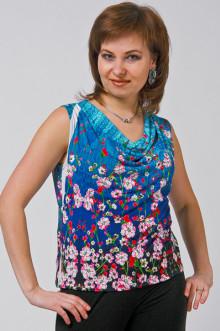 """Блуза """"СКС"""" 055 (Синий)"""