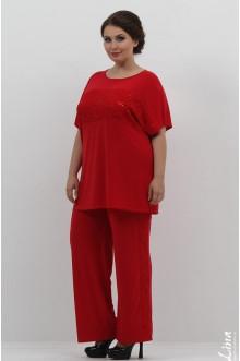 """Блуза """"Диана"""" Лина (Красный)"""